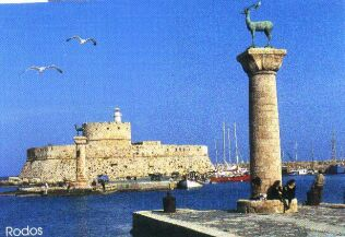 Here Colossus of Rhodes was standing